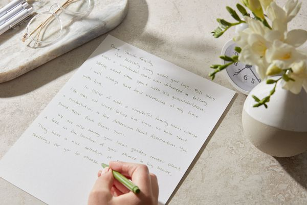 writing out a memorialization letter