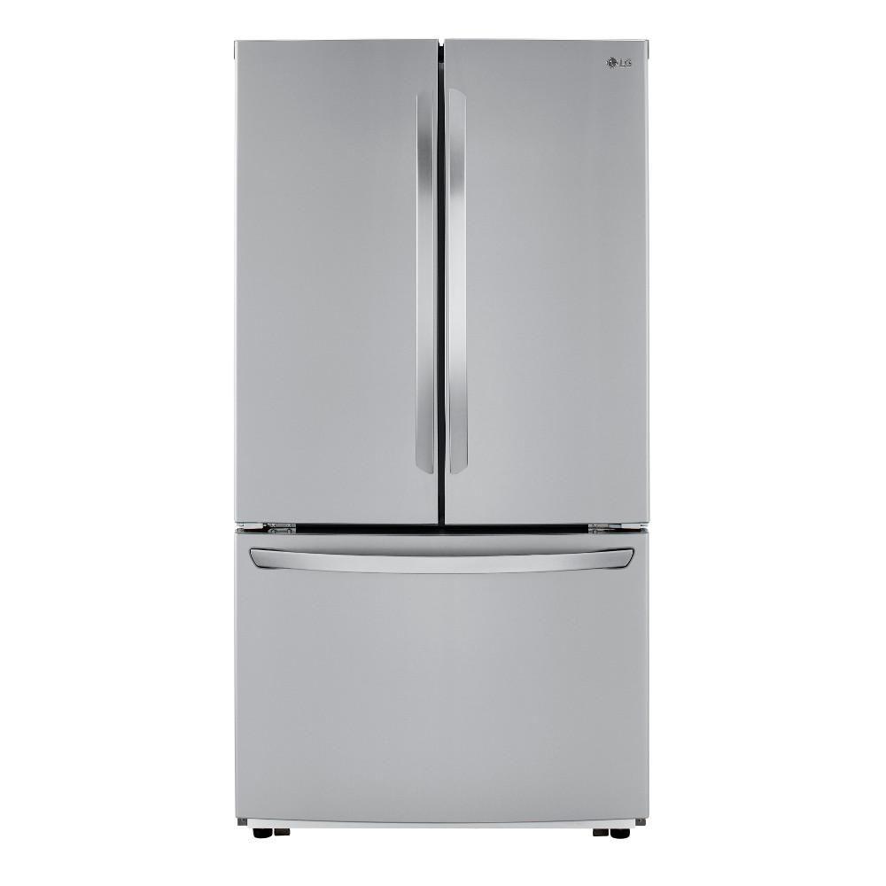 The LG Electronics LFCC22426S 22.8 cu. ft. Counter-Depth 3-Door French Door Refrigerator has plenty of room to store your groceries, but no dispenser.