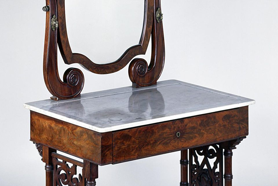 Louis Philippe style mahogany dressing table