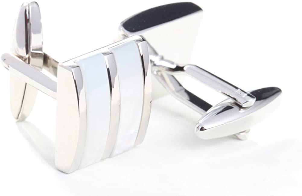 Digabi Mother of Pearl Platinum Cufflinks