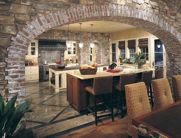 Tuscan Kitchen Stone Archway