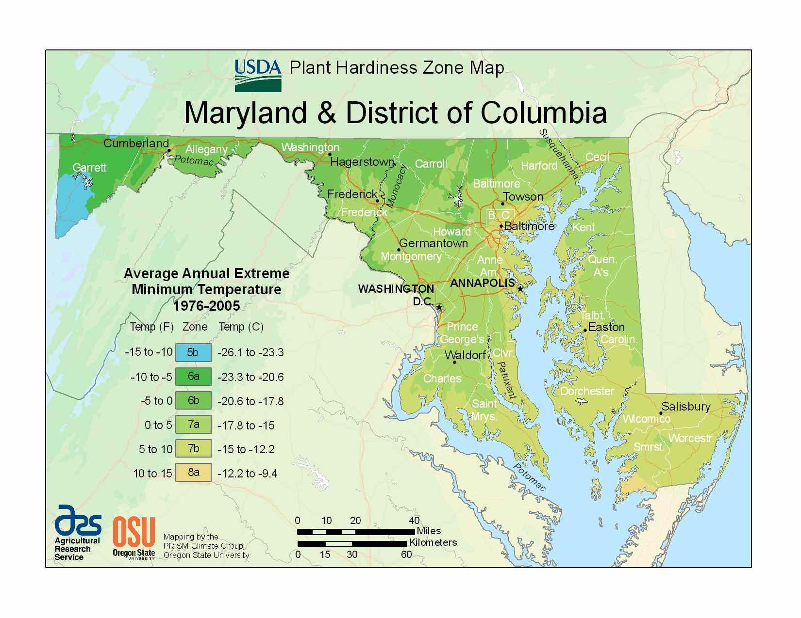 Photo of the Maryland Hardiness Zones