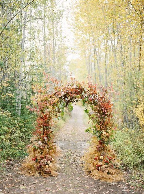 Arco de boda de otoño