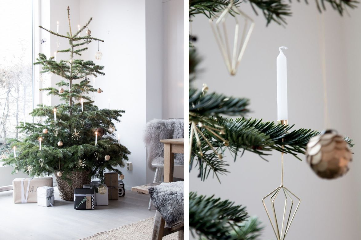33 festive fresh ways to decorate your christmas tree - Nordic Christmas Tree Decorations