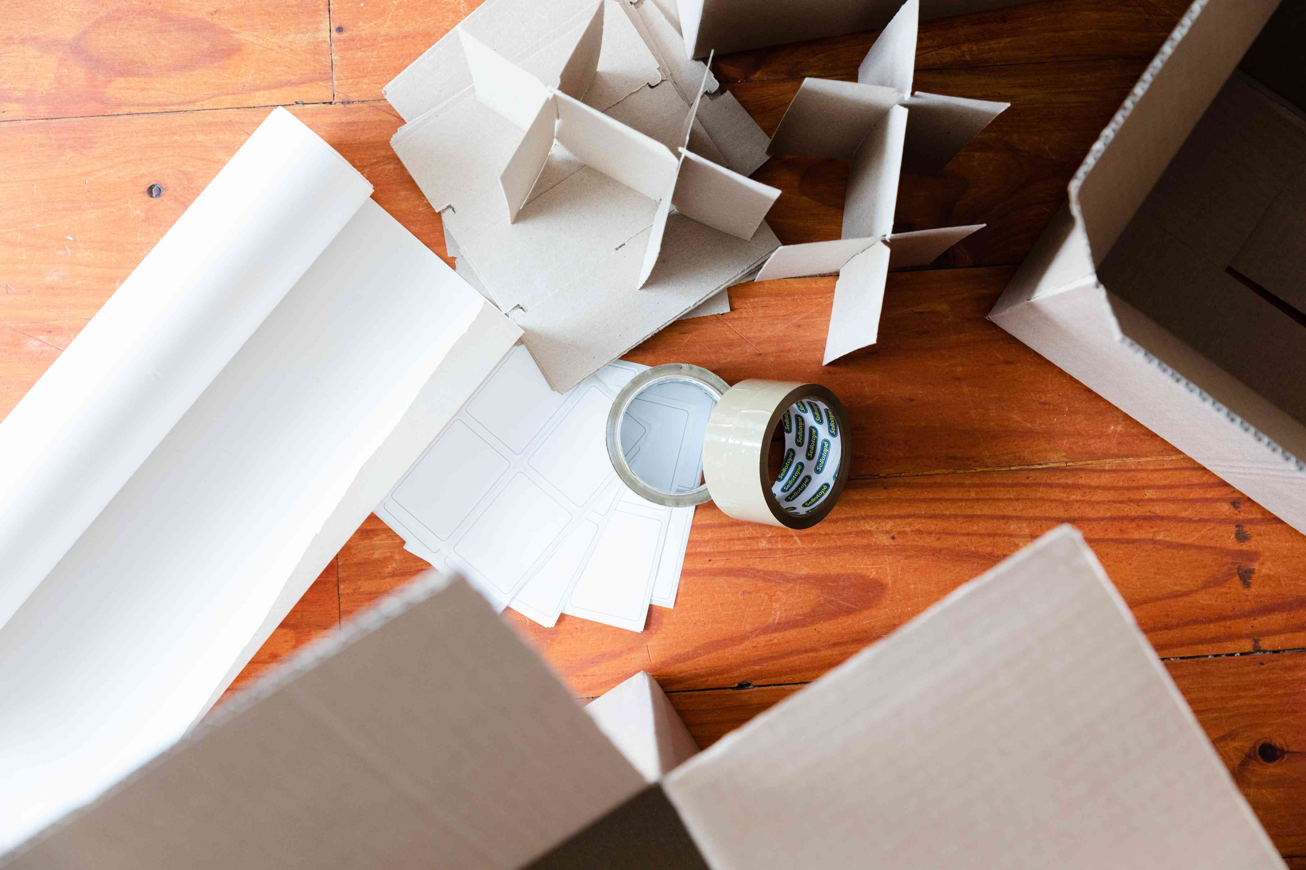 gathering packing materials