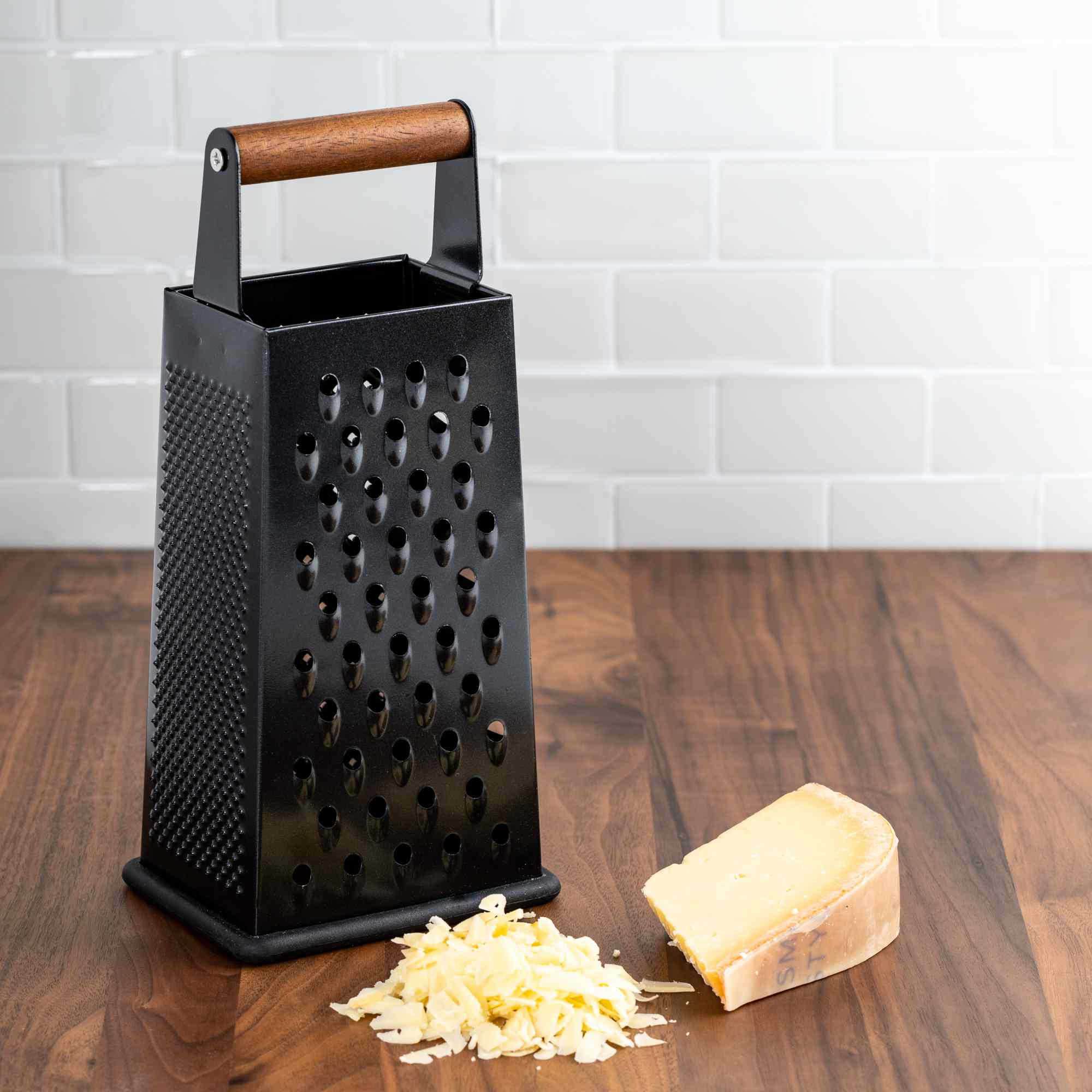Thyme & Table 4-Sided Box Grater with Acacia Handle