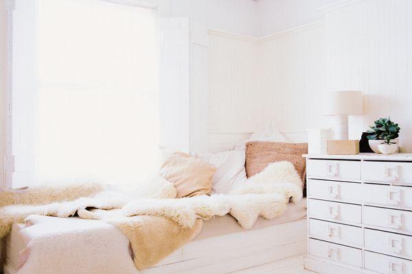 Irresistibly comfy and bright bedroom