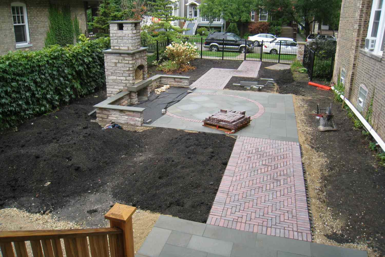 patio en construcción