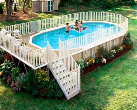 Oval And Round Above Ground Swimming Pools