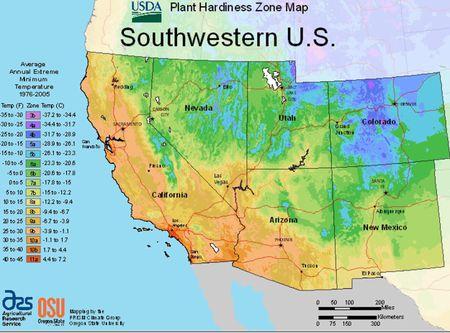 USDA Plant Hardiness Zone Maps by Region