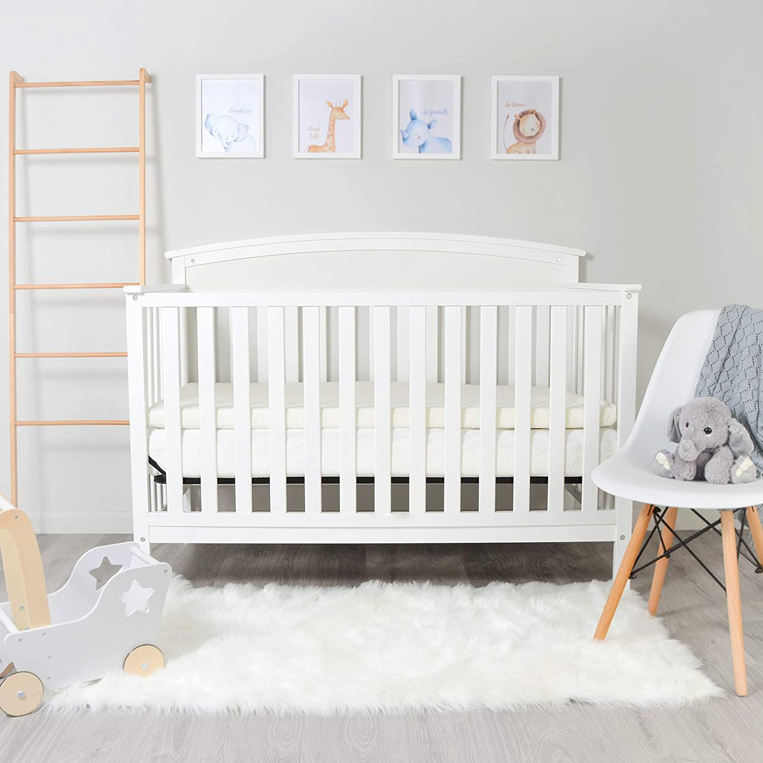 Milliard 2-Inch Ventilated Memory Foam Crib and Toddler Bed Mattress Topper