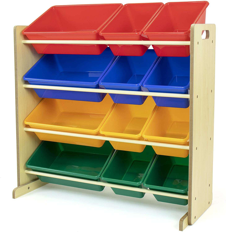 Humble Crew Toy Storage Organizer with 12 Plastic Bins