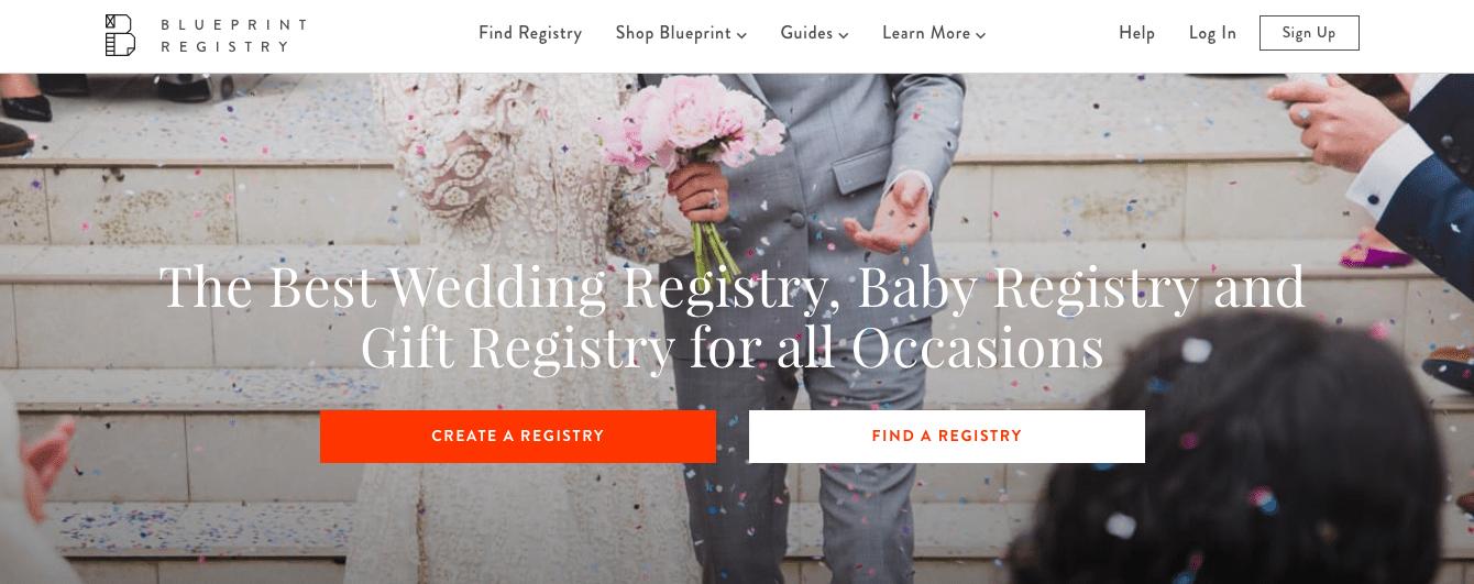 captura de pantalla de la página de inicio del sitio web del registro de planos