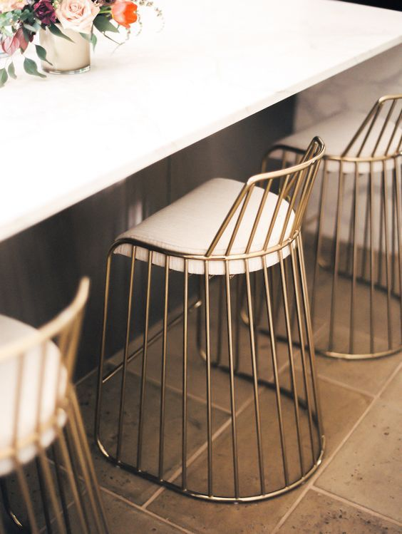 Gold bar stools
