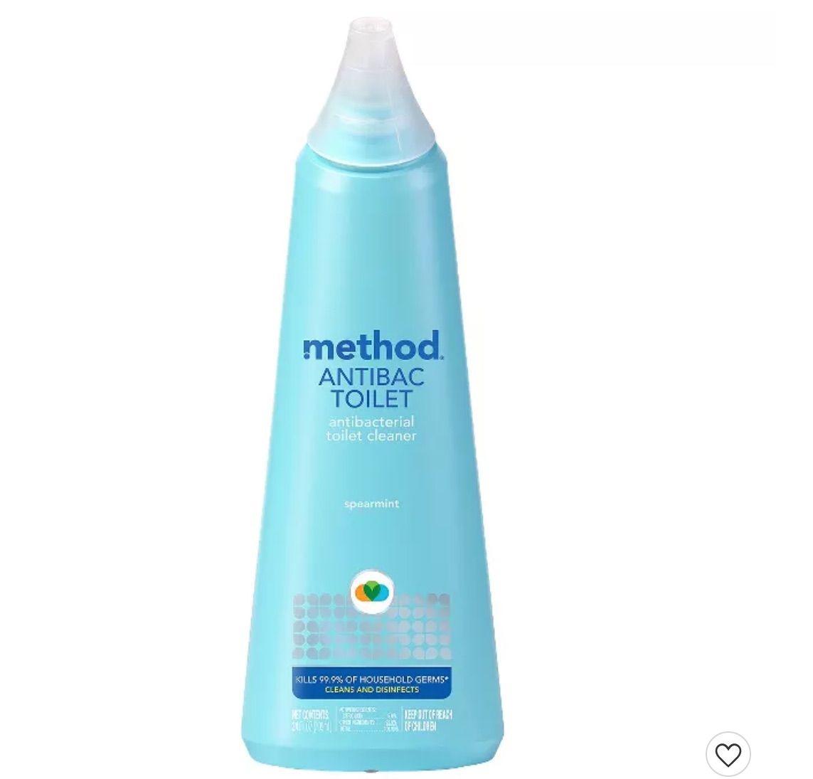  Method Cleaning Products Antibacterial Toilet Bowl Cleaner Spearmint