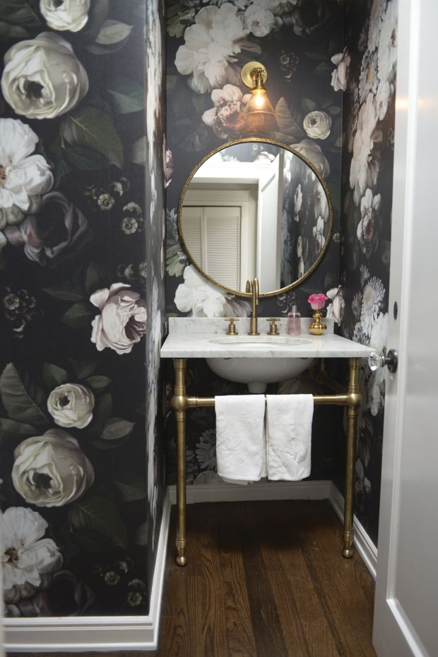 Floral bathroom