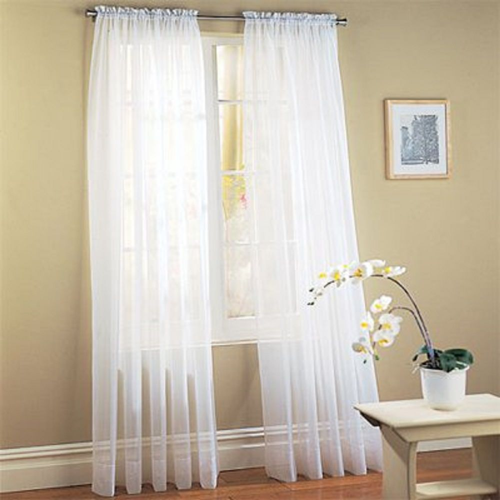 sheer white curtains for the bedroom - Bedroom Window Treatments