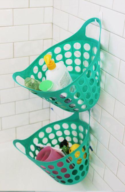 ideas para organizar el baño en la tienda de dólar