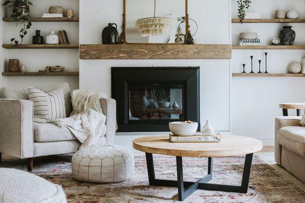 Boho farmhouse living room decor