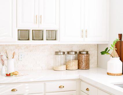 a minimalist kitchen counter