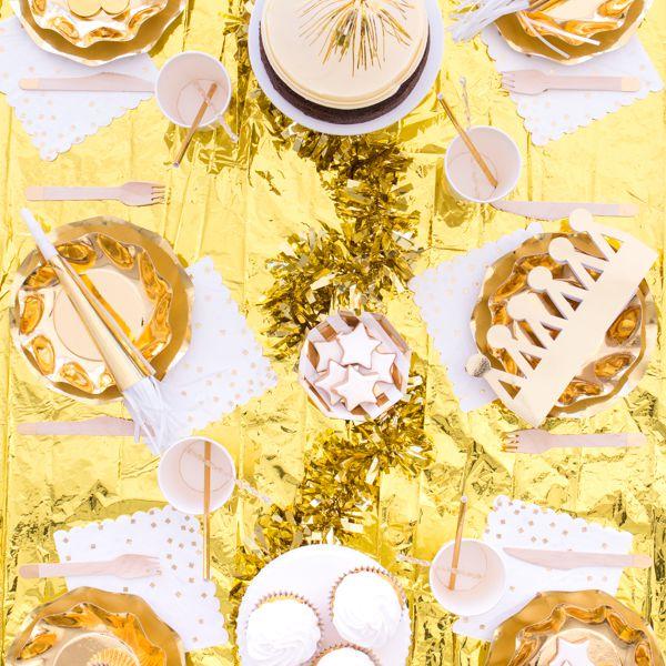 Golden party decor