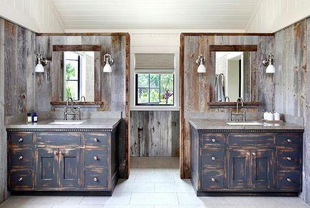definitely rustic french country bathroom - Country Bathroom