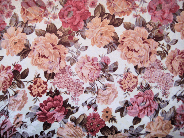 Florals in peaches and pinks