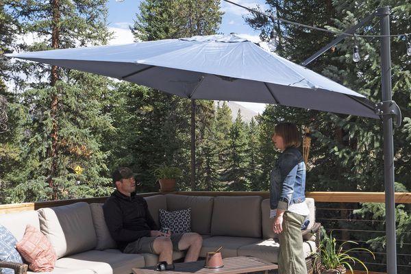 Sol 72 Outdoor Boracay 10-Foot Square Cantilever Umbrella