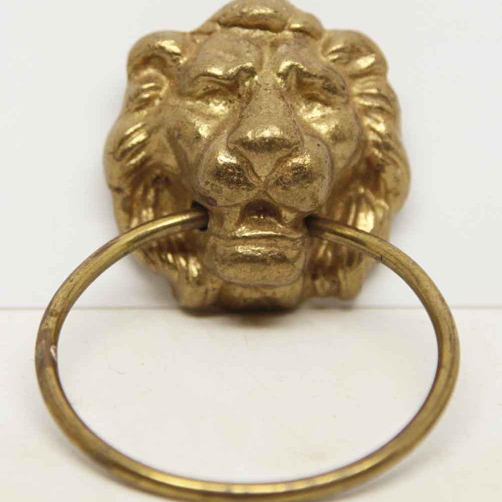 Lion head drawer pull