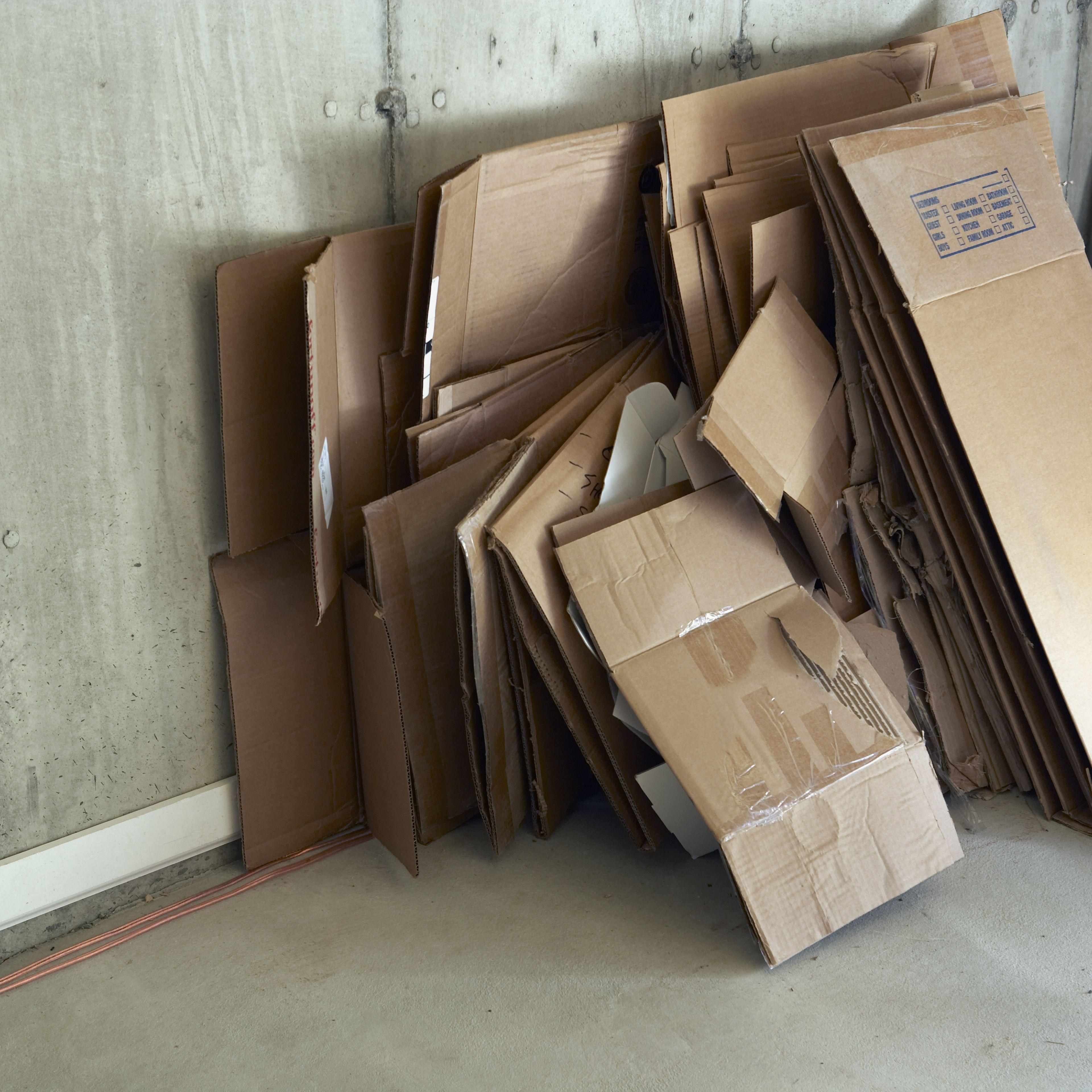 Broken Down Cardboard Boxes