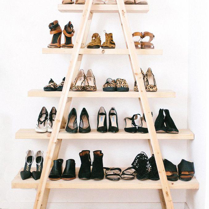 diy shoe ladder