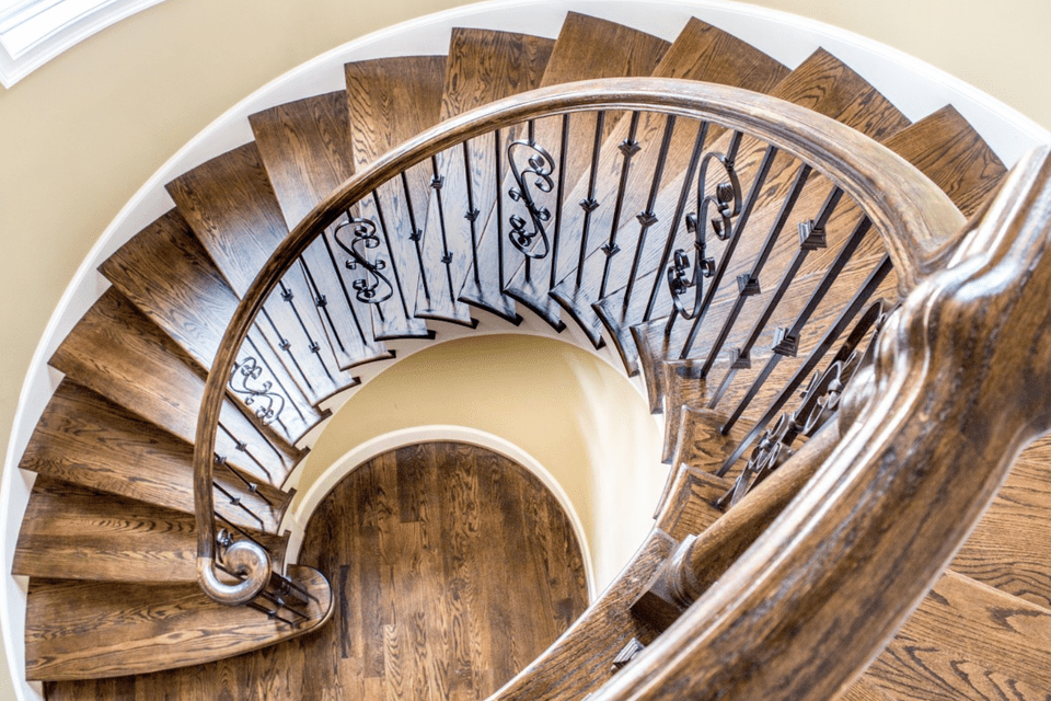 spiral staircase in the home