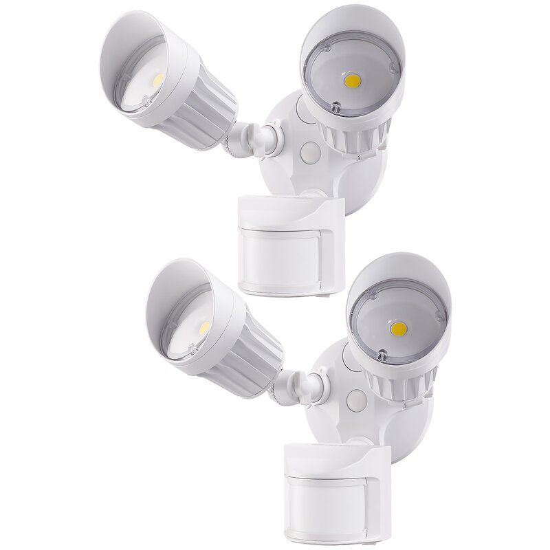 2 Head Motion Par Security Light Automatic Sensor Flood Outdoor Lamp Spot Yard
