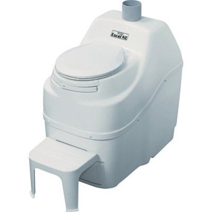 Sun-Mar Excel Non-Electric Self-Contained Composting Toilet, Model# Exce