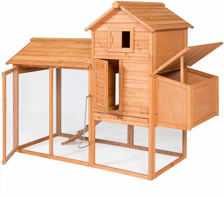 Outdoor Wooden Chicken Coop Hen House Poultry