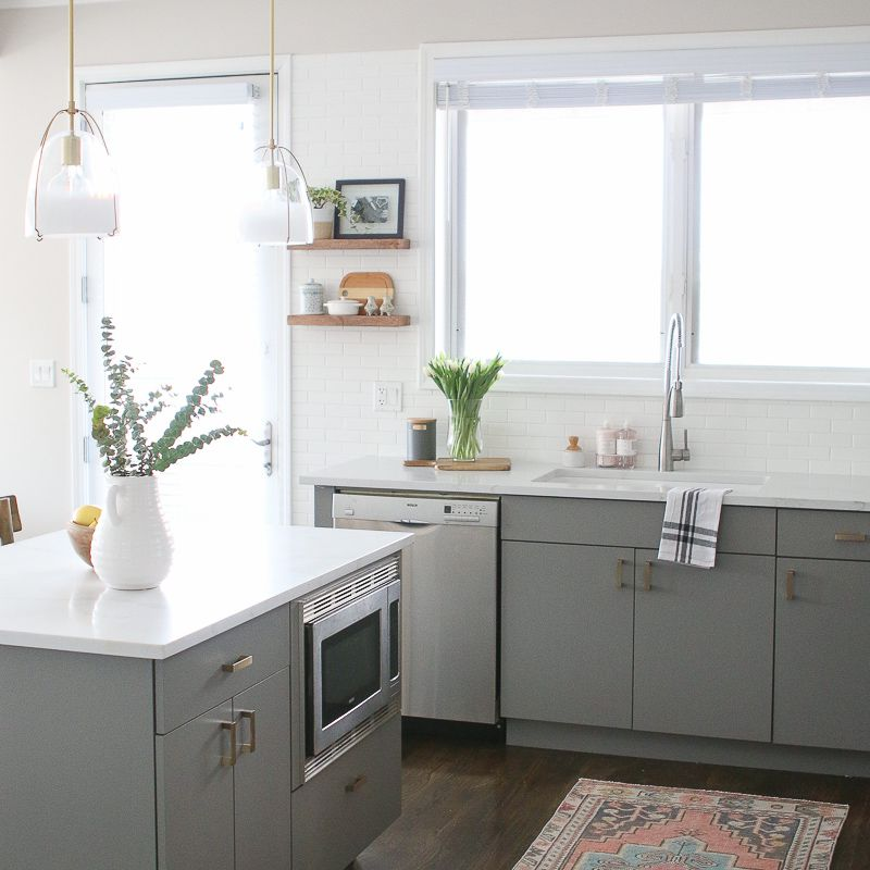 15 Stunning Gray Kitchens With Images: 21 Ways To Style Gray Kitchen Cabinets