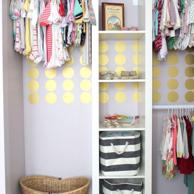 Nursery closet IKEA hack