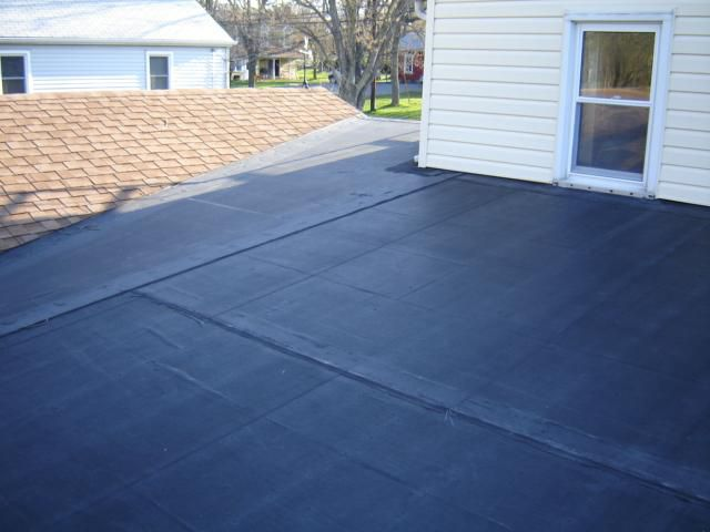 black rubber roof