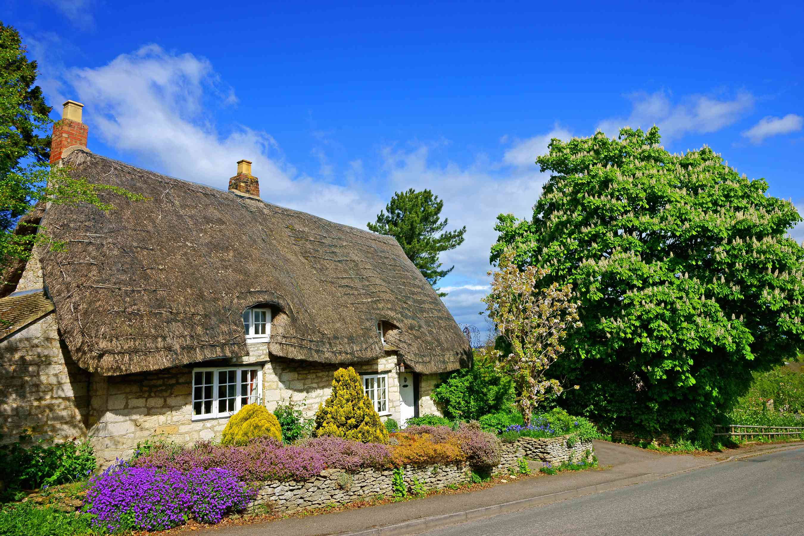 A Thatched Cottage in the Cotswolds, Gloucestershire, UK
