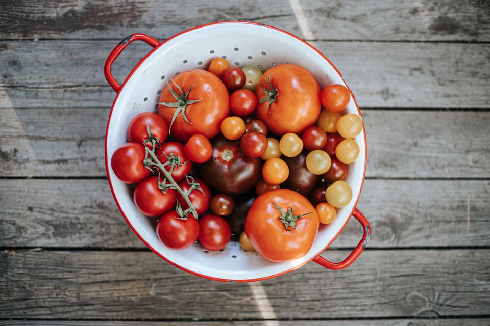 colander full of tomatoes