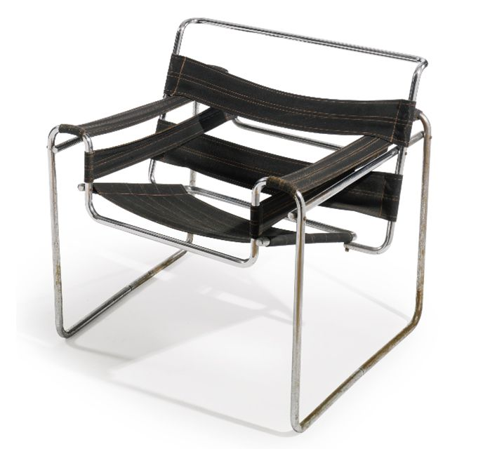 Wassily chair designed by Marcel Breuer manufactured by Standard-Möbel, c. 1927.