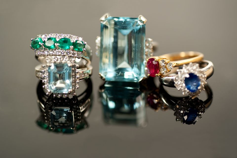 Different gemstone engagement rings