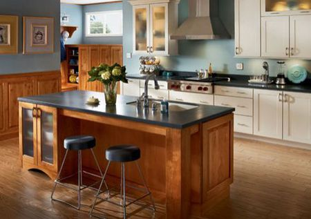 Kitchen Islands With Seating Cherry And Gl Doors