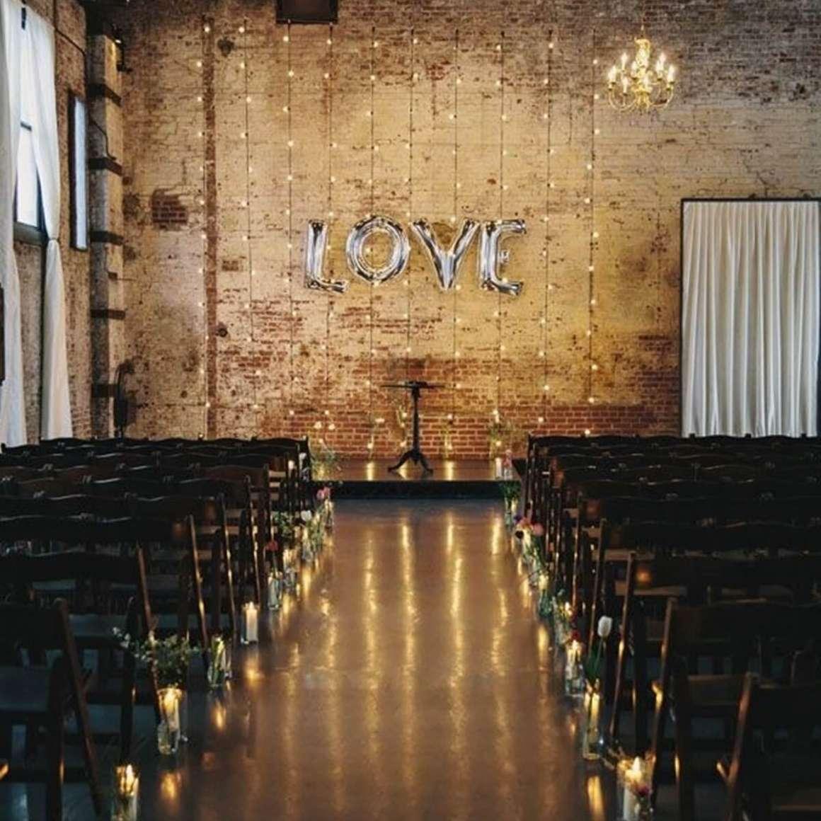 love backdrop at a wedding