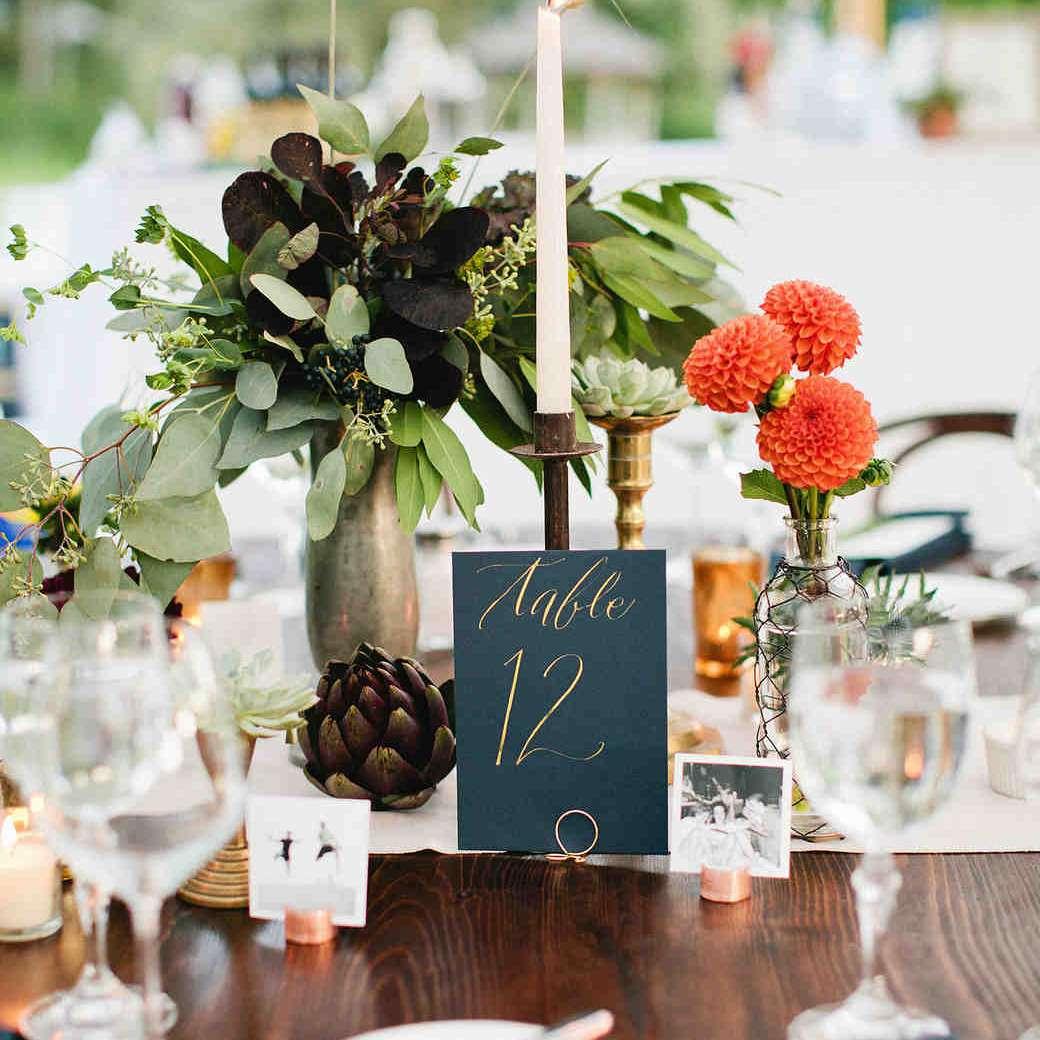 Artichoke Fall Wedding Centerpiece