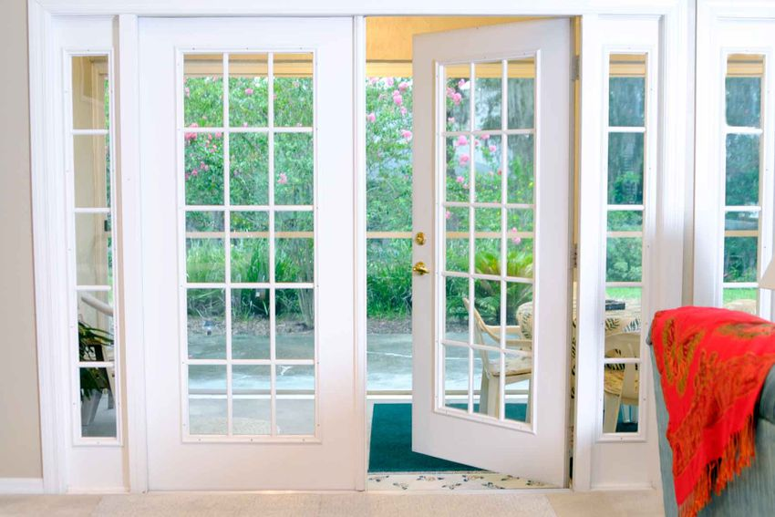 doors opening up to a porch