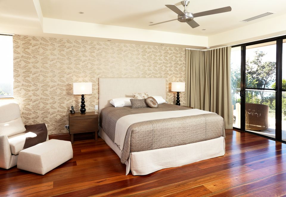 A beautiful master bedroom