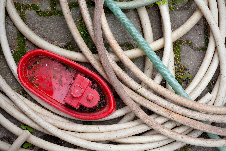 old broken hose