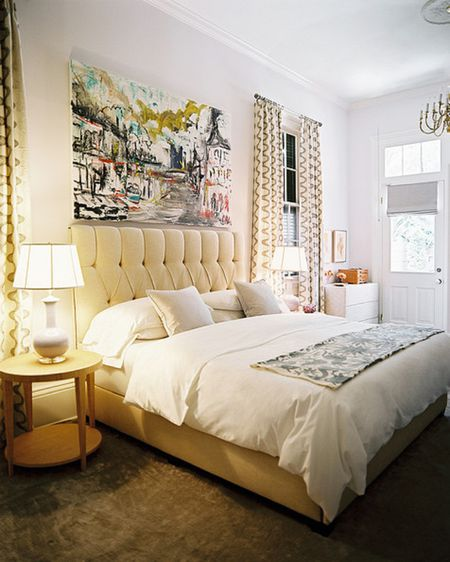 Bedroom With Large Artwork