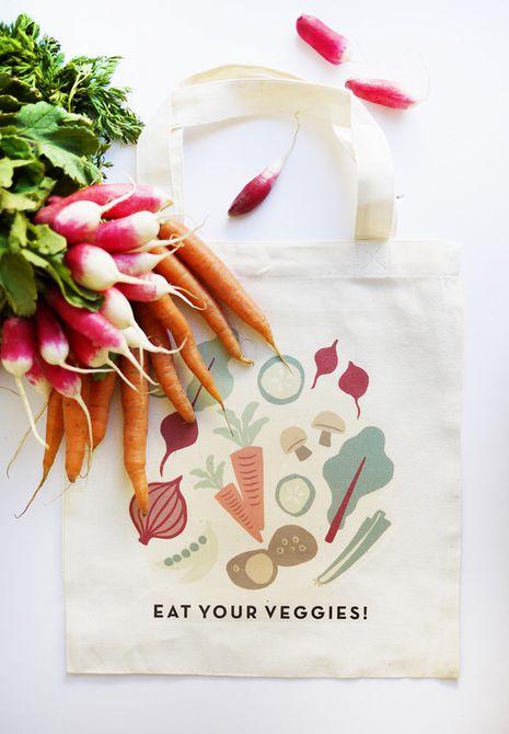Plancha de verduras en una bolsa